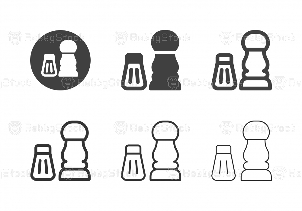 Salt and Pepper Shaker Icons - Multi Series
