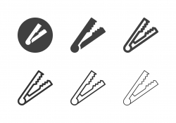 Kitchen Tongs Icons - Multi Series