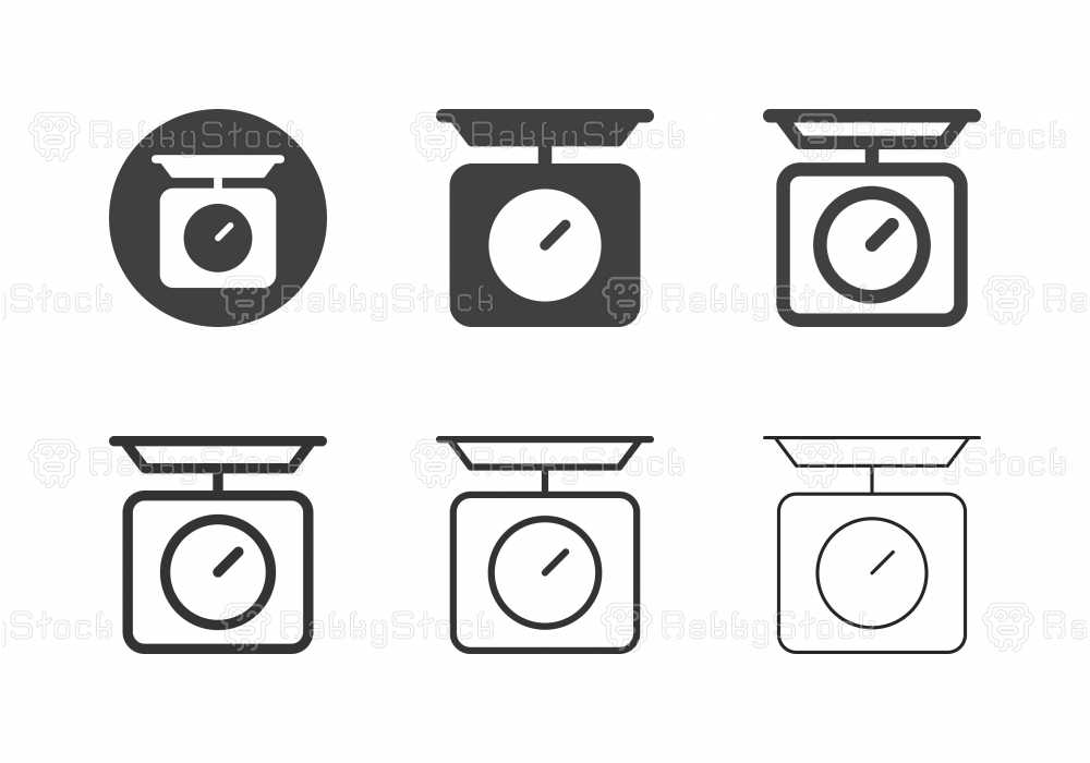 Kitchen Scale Icons - Multi Series