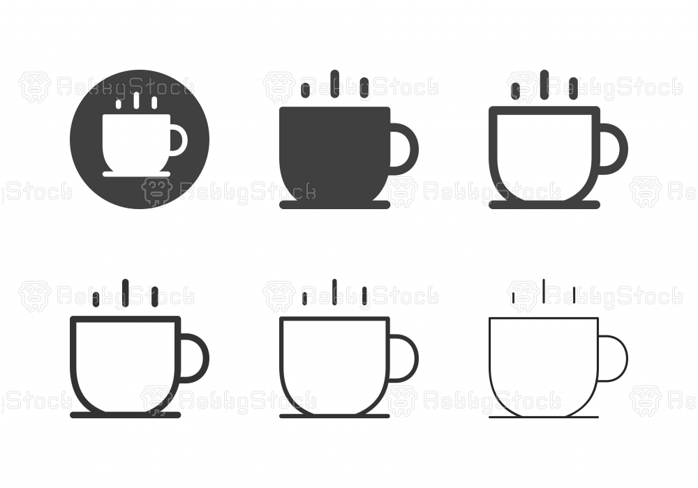Hot Coffee Icons - Multi Series