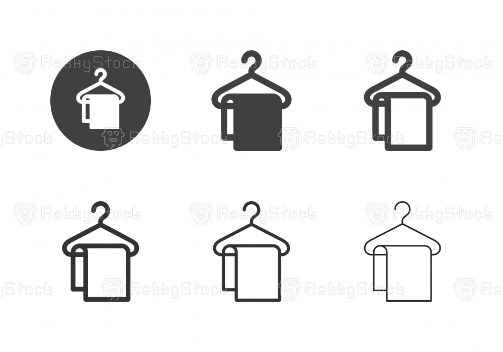Coathanger with Towel Icons - Multi Series
