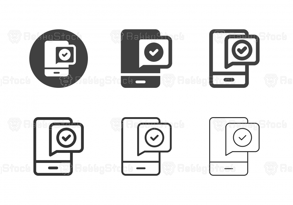 Mobile Transaction Icons - Multi Series