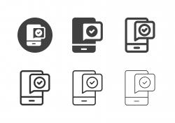Mobile Transaction Icons - Multi Series