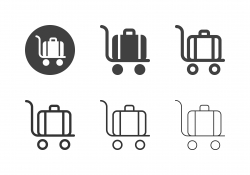 Trolley Luggage Icons - Multi Series