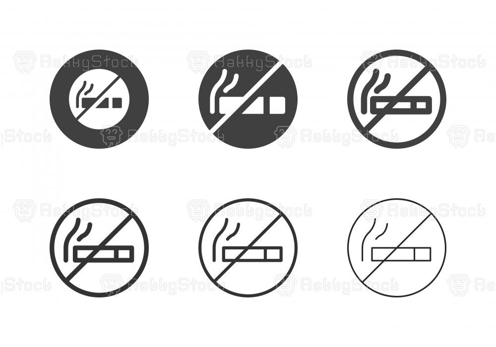 No Smoking Icons - Multi Series