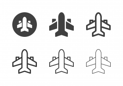 Commercial Airplane Icons - Multi Series