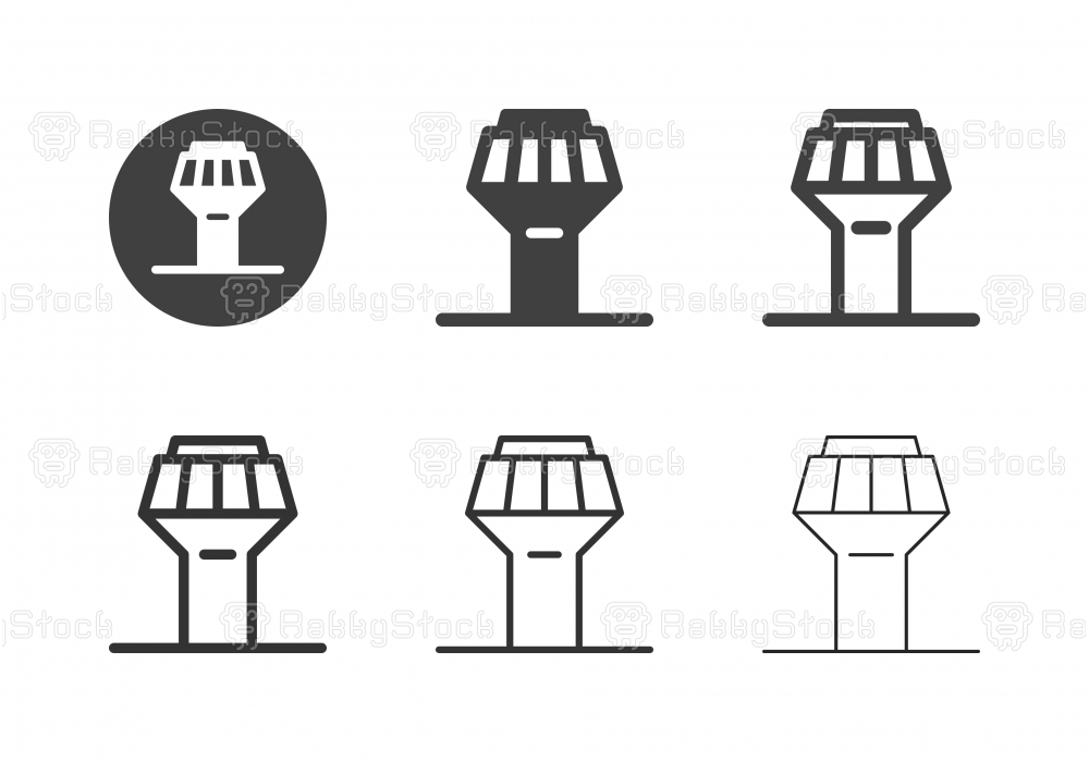 Air Traffic Control Tower Icons - Multi Series