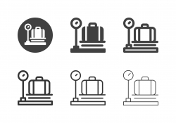 Luggage Weight Scale Icons - Multi Series