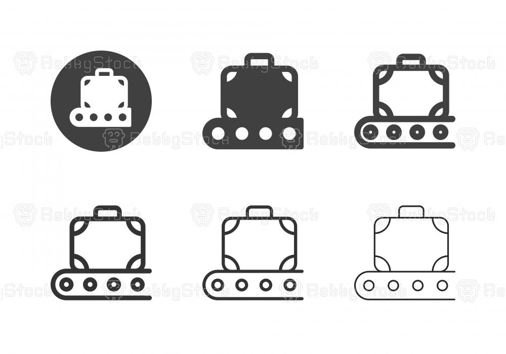 Luggage Conveyor Icons - Multi Series
