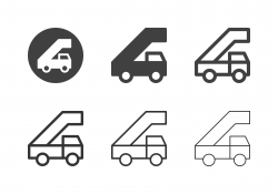 Mobile Airport Gangway Icons - Multi Series