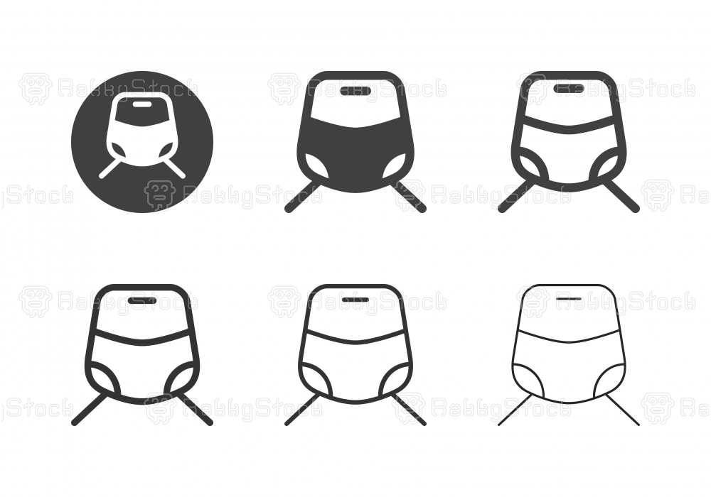 Electric Train Icons - Multi Series