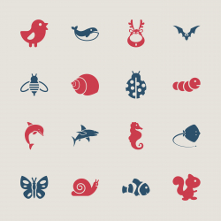 Animal Icons - Color Series | EPS10