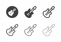 Electric Guitar Icons - Multi Series
