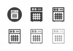 Guitar Amplifier Icons - Multi Series