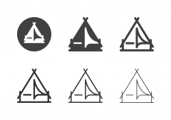Camping Tent Icons - Multi Series