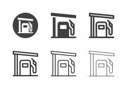 Gas Station Icons - Multi Series