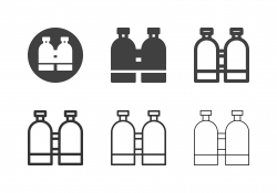 Oxygen Tank Icons - Multi Series stock