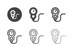 Scuba Diving Gauge Icons - Multi Series