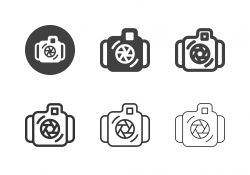 Underwater Camera Icons - Multi Series