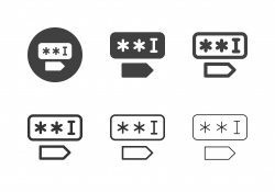 Password Field Icons - Multi Series