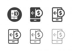 Mobile Money Receiving Icons - Multi Series