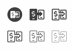 Money Transfer Icons - Multi Series