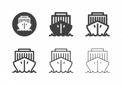 Industrial Ship Icons - Multi Series