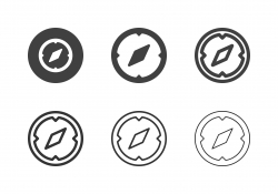 Navigational Compass Icons - Multi Series