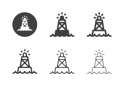 Ocean Buoy Icons - Multi Series