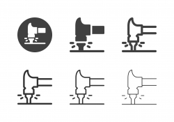 Hammer and Nail Icons - Multi Series
