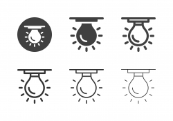 Ceiling Light Bulb Icons - Multi Series