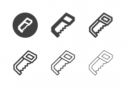 Metal Hand Saw Icons - Multi Series