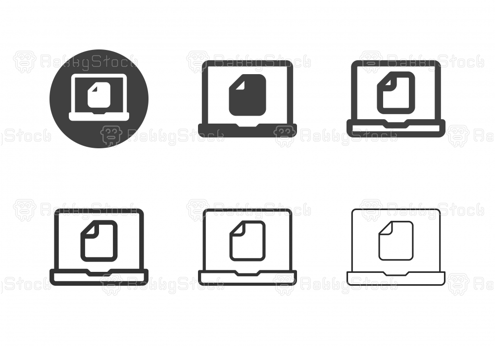 Digital Document Icons - Multi Series