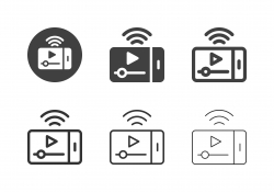 Mobile Video Streaming Icons - Multi Series