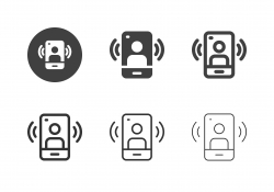 Mobile Live Streaming Icons - Multi Series