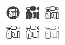 Camera Mount Shotgun Mic Icons - Multi Series
