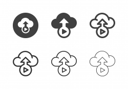 Cloud Video Storage Icons - Multi Series