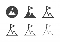 Mountain Peak Icons - Multi Series
