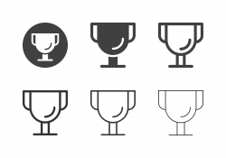 Golden Trophy Icons - Multi Series