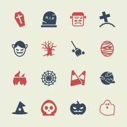 Halloween Icons - Color Series   EPS10