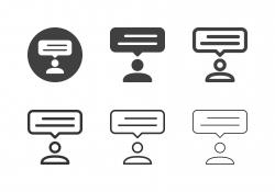 People Talking Icons - Multi Series