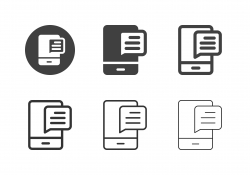 Mobile Messaging Icons - Multi Series