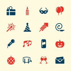 Celebration Icons - Color Series | EPS10