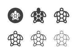 Sea Turtle Icons - Multi Series