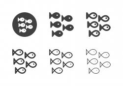 Saltwater Fish Icons - Multi Series