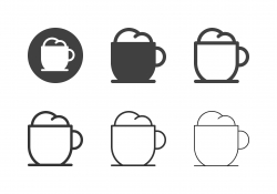 Hot Cappuccino Icons - Multi Series