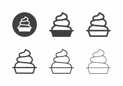 Soft Ice Cream Icons - Multi Series