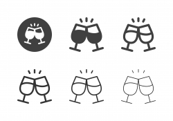 Clink Glasses Icons - Multi Series