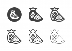 Pineapple and Watermelon Icons - Multi Series