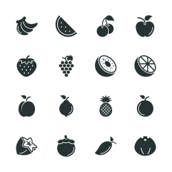Fruit Silhouette Icons